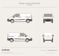 2007 Citroen Jumpy Panel Van L1 H1 Van blueprint
