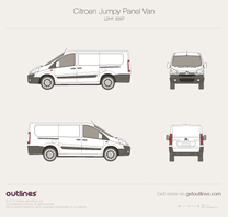 2007 Citroen Dispatch Panel Van L2 H1 Van blueprint