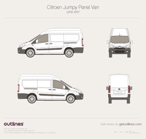 2007 Citroen Jumpy Panel Van L2 H2 Van blueprint