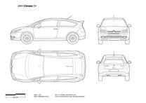 2004 Citroen C4 3-door Hatchback blueprint