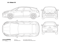 2012 Citroen DS5 5-door Hatchback blueprint