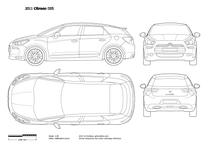 2012 Citroen DS5 5-door Hatchback blueprint