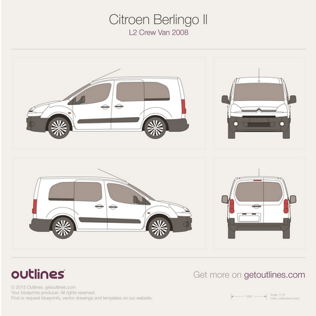 Citroen Berlingo drawings