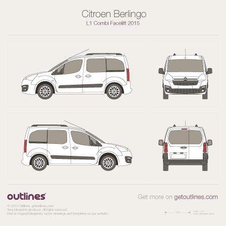 2015 Citroen Berlingo Combi L1 Facelift Wagon blueprint