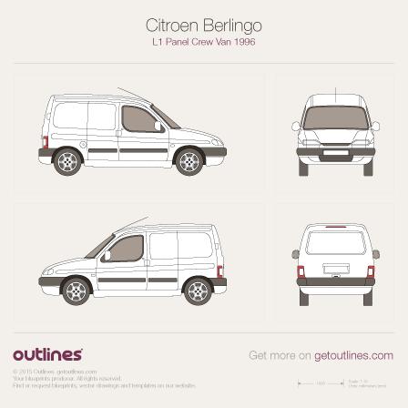 1996 Citroen Berlingo Panel Crew Van L1 Van blueprint