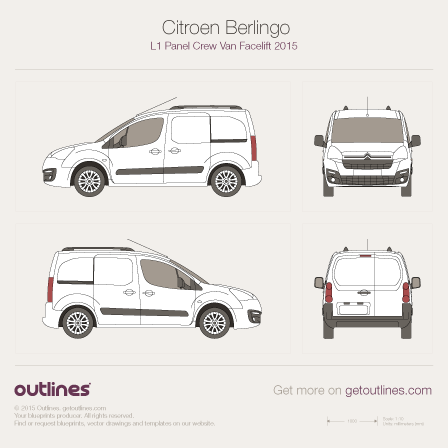 Citroen Berlingo blueprints and drawings