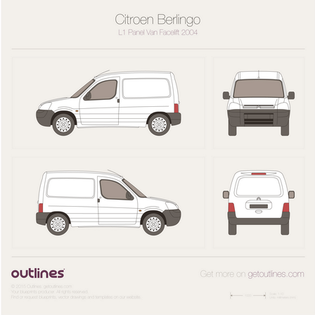 2002 Citroen Berlingo Panel Van Van blueprints and drawings