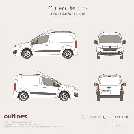 2015 Citroen Berlingo Panel Van L1 Facelift Van blueprint
