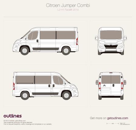 2014 Citroen Jumper Combi Wagon blueprints and drawings