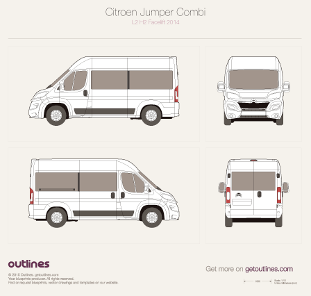 2014 Citroen Relay Combi Wagon blueprints and drawings