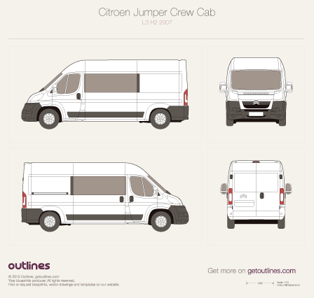 2007 Citroen Jumper Crew Cab Van blueprints and drawings