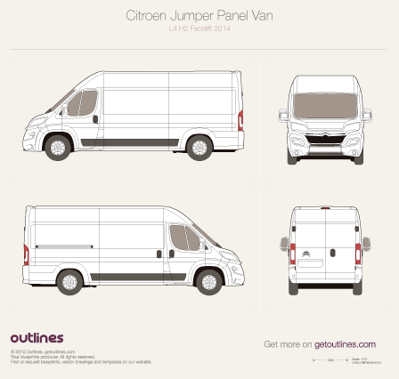 2014 Citroen Relay Panel Van Van blueprints and drawings
