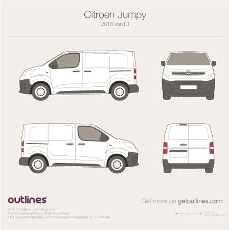 2016 Citroen Dispatch Mk III Van blueprints and drawings