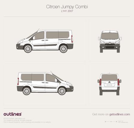 2007 Citroen Dispatch Combi Minivan blueprints and drawings