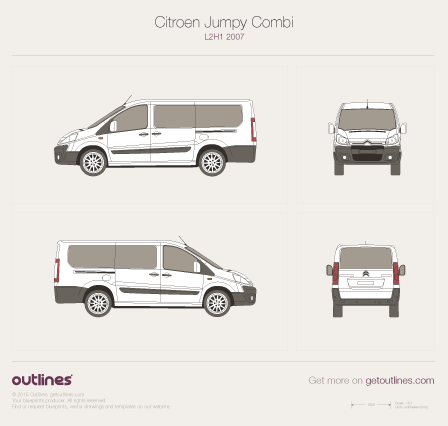 Citroen Dispatch drawings