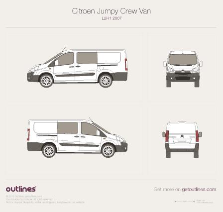 2007 Citroen Jumpy Crew Van L2 H1 Van blueprint