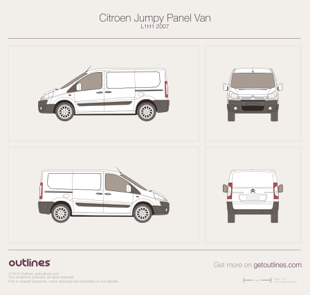 2007 Citroen Dispatch Panel Van L1 H1 Van blueprint