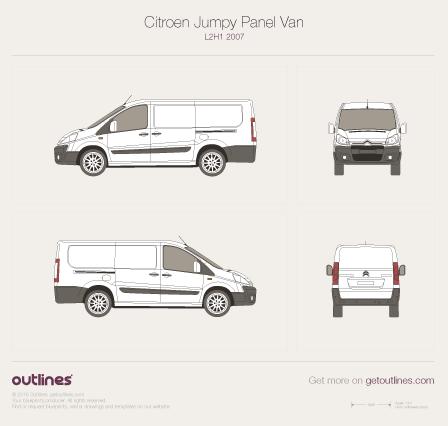 2007 Citroen Jumpy Panel Van L2 H1 Van blueprint