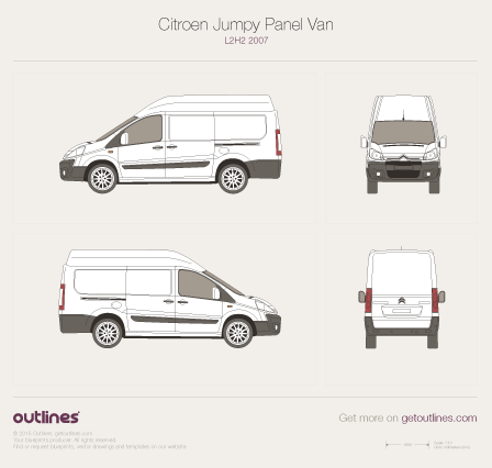 2007 Citroen Dispatch Panel Van L2 H2 Van blueprint