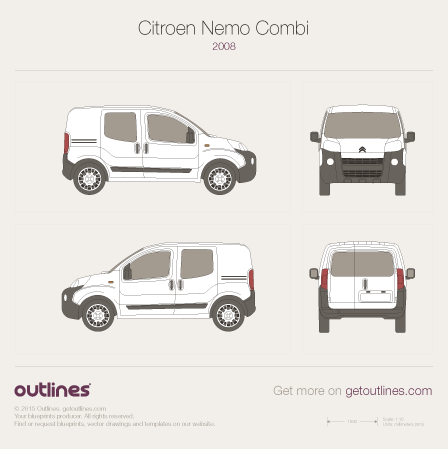 2008 Citroen Nemo Combi Hatchback blueprint
