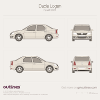 2009 Renault Logan Facelift Sedan blueprint