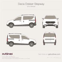 2012 Dacia Dokker Stepway Minivan blueprint