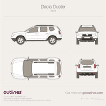 2010 Dacia Duster SUV blueprint