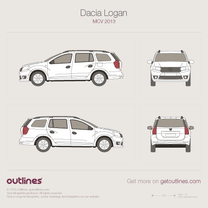 Dacia Logan blueprint