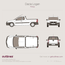 2006 Dacia Logan Single Cab Pickup Truck blueprint