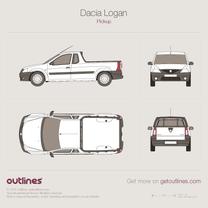 2006 Dacia Logan Single Cab Pickup Truck blueprint