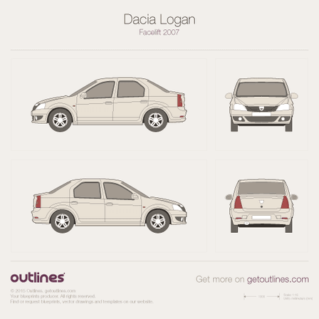 2009 Renault Logan Sedan blueprints and drawings