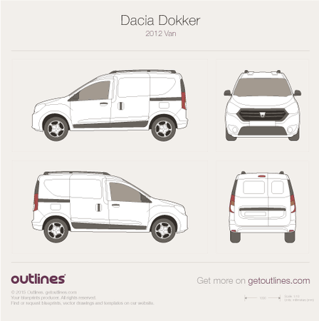 2012 Dacia Dokker Van blueprints and drawings