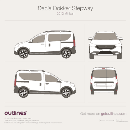 2012 Dacia Dokker Stepway Minivan blueprints and drawings