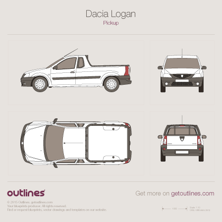 2006 Dacia Logan Pickup Truck blueprints and drawings