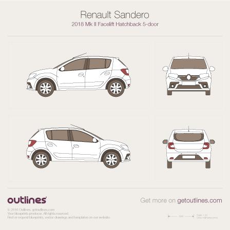 Dacia Sandero blueprint