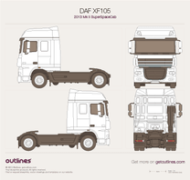 DAF XF105 blueprint