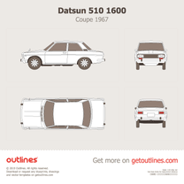 1967 Datsun 1600 510 Coupe blueprint
