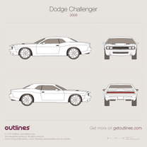 2008 Dodge Challenger Coupe blueprint