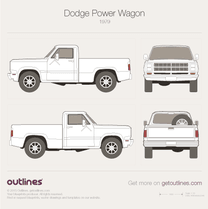 1979 Dodge Power Wagon Pickup Truck blueprint