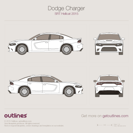 2014 Dodge Charger LD SRT Facelift Sedan blueprint