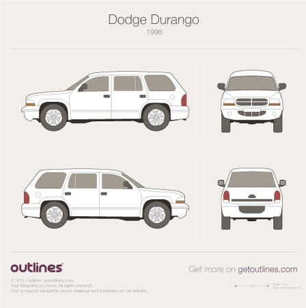 1998 Dodge Durango SUV blueprints and drawings