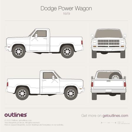 1979 Dodge Power Wagon Pickup Truck blueprint