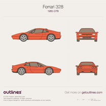 1985 Ferrari 328 GTB Coupe blueprint
