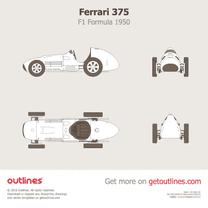 1950 Ferrari 375 F1 Formula blueprint