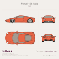 2010 Ferrari 458 Italia Coupe blueprint