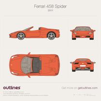 Ferrari 458 blueprint