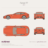 2011 Ferrari FF Hatchback blueprint
