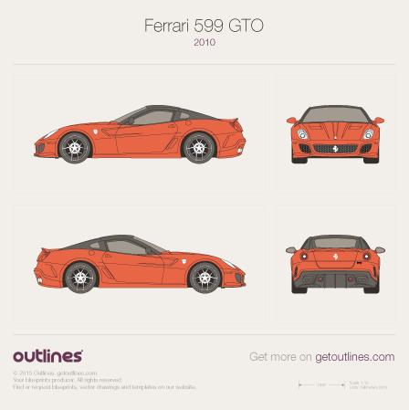 2006 Ferrari 599 GTO Coupe blueprint