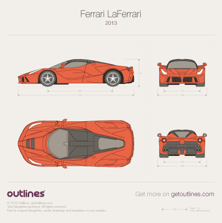 2013 Ferrari LaFerrari Coupe blueprints and drawings