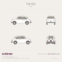 1957 Fiat 500 Cinquecento Hatchback blueprint